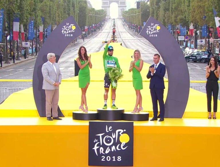 Peter Sagan ganó la clasificación por puntos, ganó tres etapas en el Tour de Francia