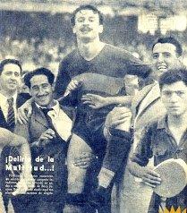 Boca Juniors derrotó 3-0 a Racing y se consagró campeón en 1944.
