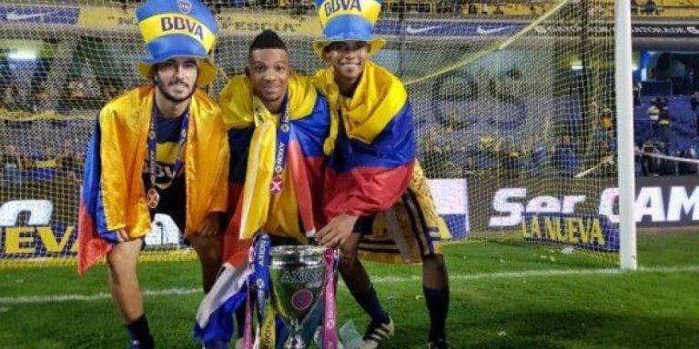 Colombianos campeones con Boca en 2017.