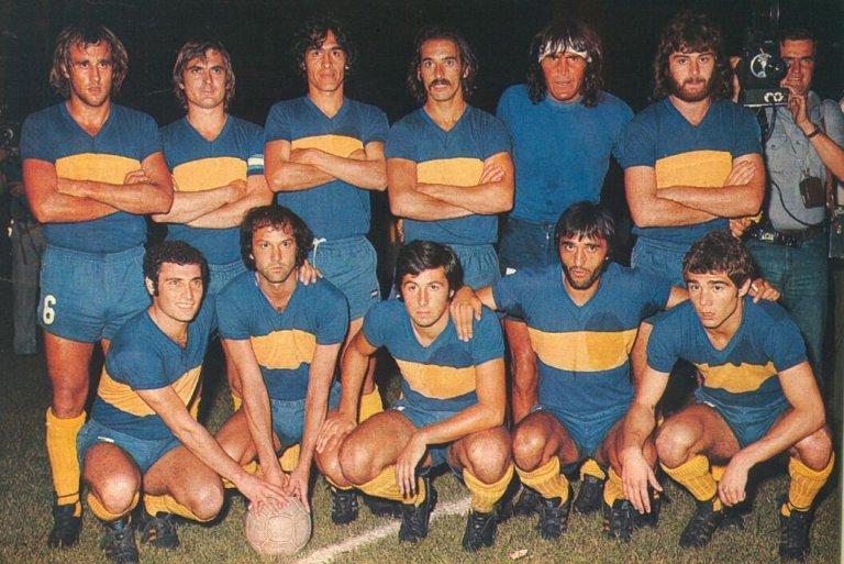 Boca campeón River subcampeón final Nacional 1976.