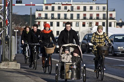 Bicicletas en Copenaghe, Dinamarca